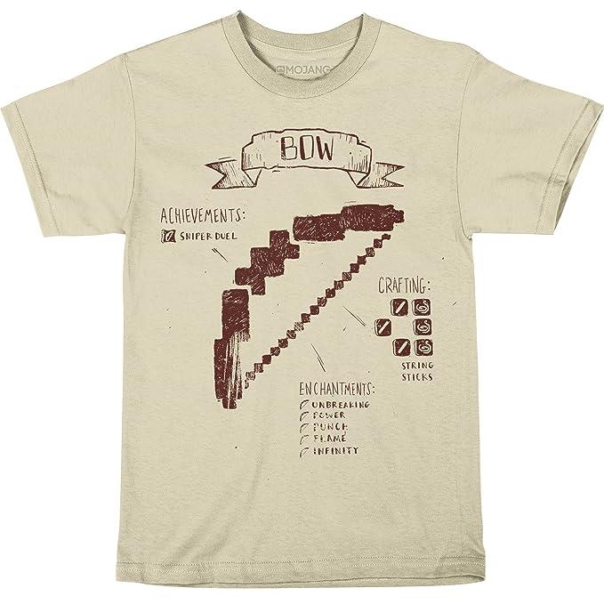 Amazon.com: Minecraft Big Boys Lazo Diagrama playera: Clothing