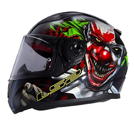 LS2 Helmets Motorcycles & Powersports Helmets Full Face Rapid (Happy Dreams Zombie Clown Glow, XX-Large)