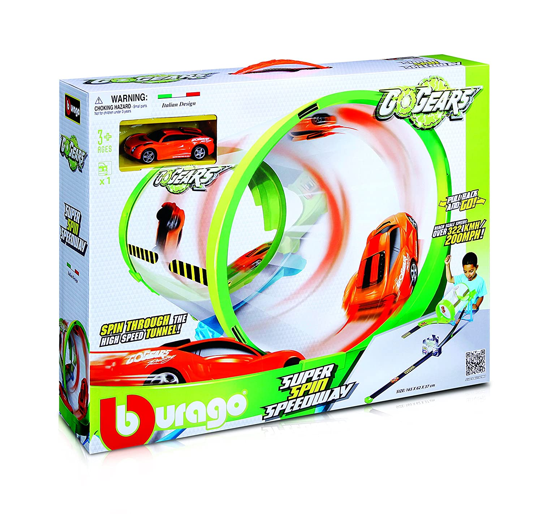 Tobar 'Go Gears Super Spin Speedway INCL 1 Car Track Bburago B18-30286