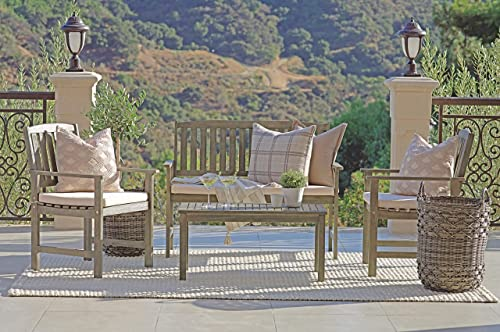 Coaster Home Furnishings 6812605 Thoreau 4-Piece Wire Brushed Outdoor Conversation Set