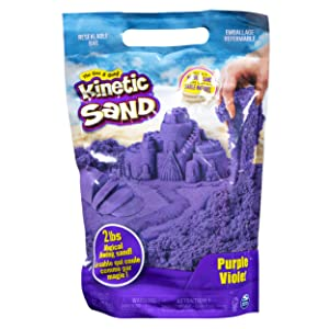 Kinetic Sand The Original Moldable Sensory Play Sand, Purple, 2 Lb