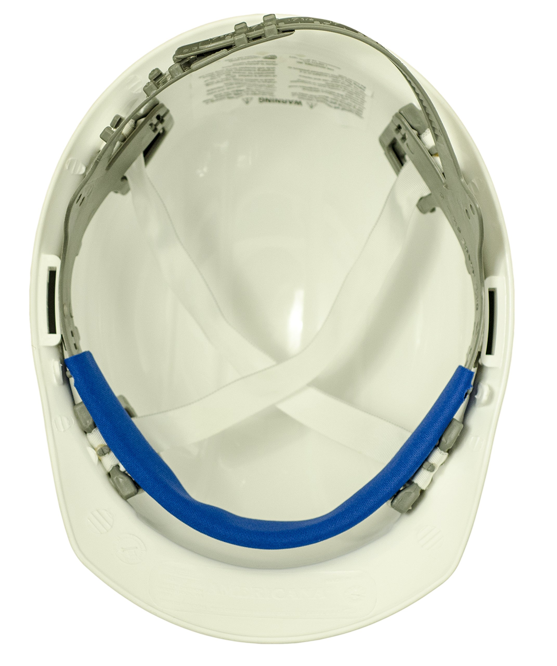 ERB 19761 Americana Cap Style Hard Hat with Slide Lock, White by ERB (Image #1)