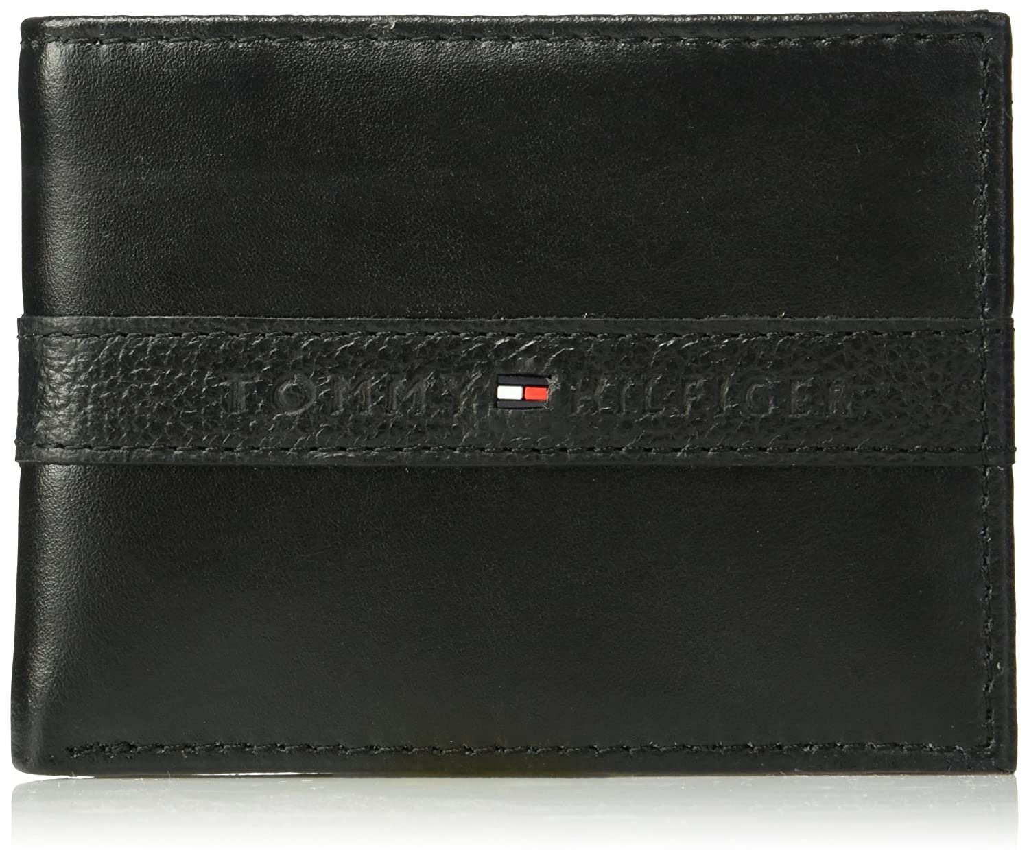 Tommy Hilfiger Men's Leather Wallet - RFID Blocking Slim Thin Bifold with Removable Card Holder and Gift Box