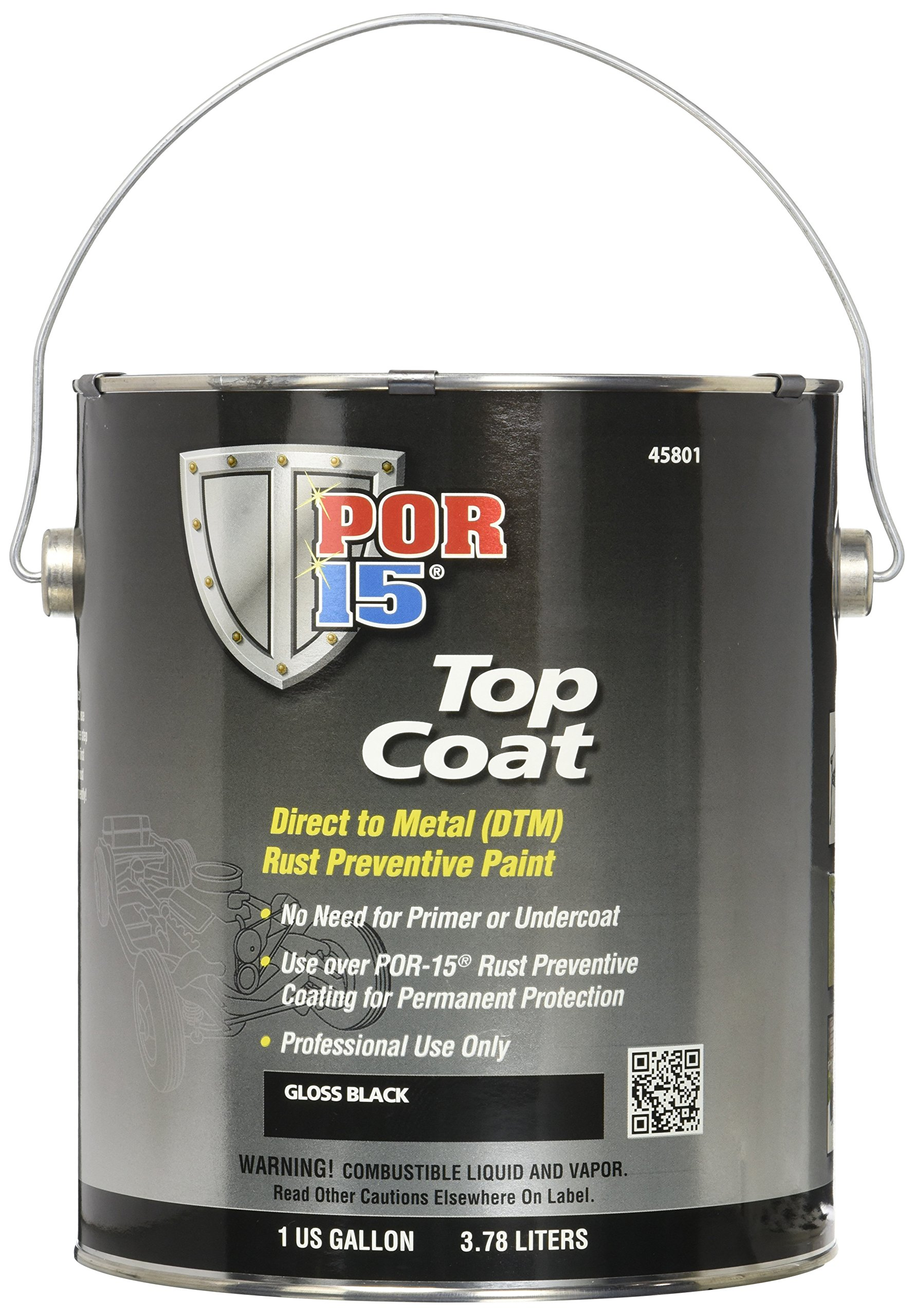 POR-15 45801 Gloss Black Top Coat - 1 gal by POR-15