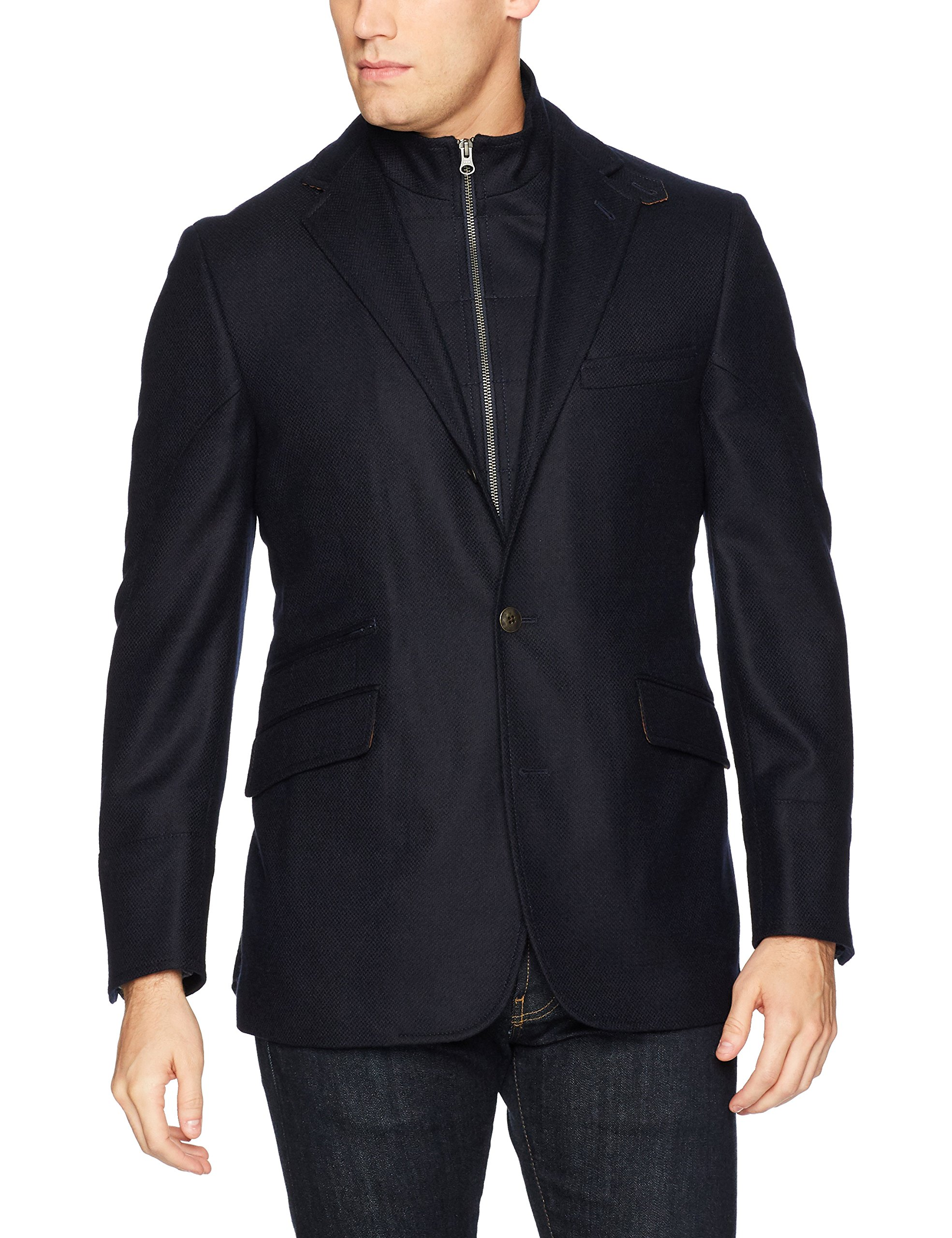 Kroon Men's W33070 Ritchie Aim Stretch Sportcoat Blazer, Navy, 46 Long