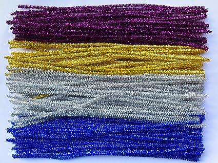 100 Piezas de Tallos de Chenilla los limpiadores de Pipa Palos de Colores Artes de DIY Que Hace la Herramienta Tubo para Art/ísticos y de Proyecto de Bricolaje
