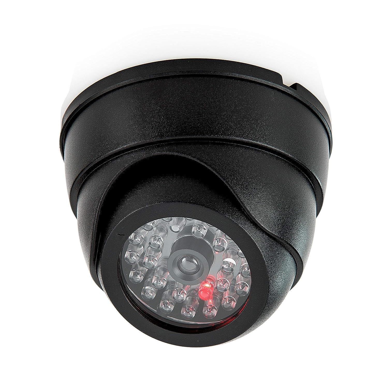 takestop/® Telecamera Finta ad Angolo retto Dome Dummy Speed LED IR Lampeggiante Camera Waterproof VIDEOSORVEGLIANZA