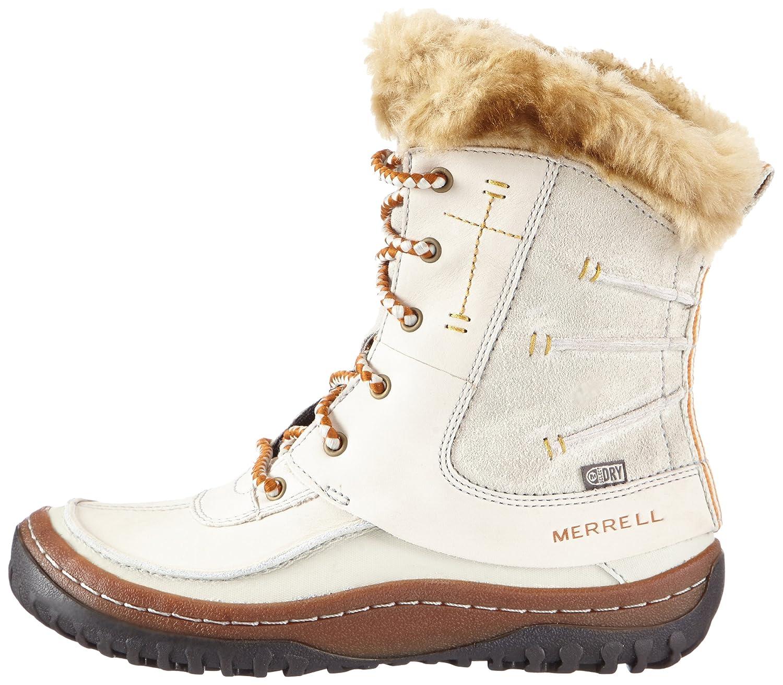 DECORA SONATA WTPF - Botas De Nieve de cuero mujer, color marfil, talla 42 Merrell