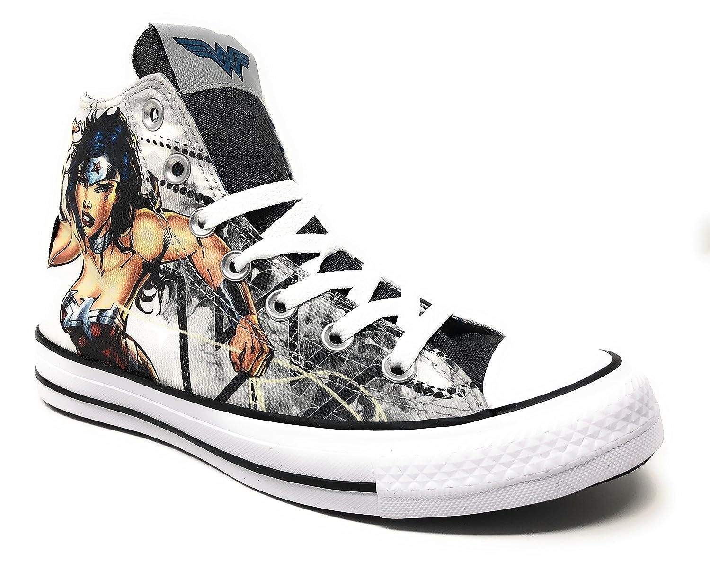 Converse DC Comics Chuck Taylor All Star Sneakers B071PDN2R9 Mens 6/Womens 8|Wonder Woman 9476