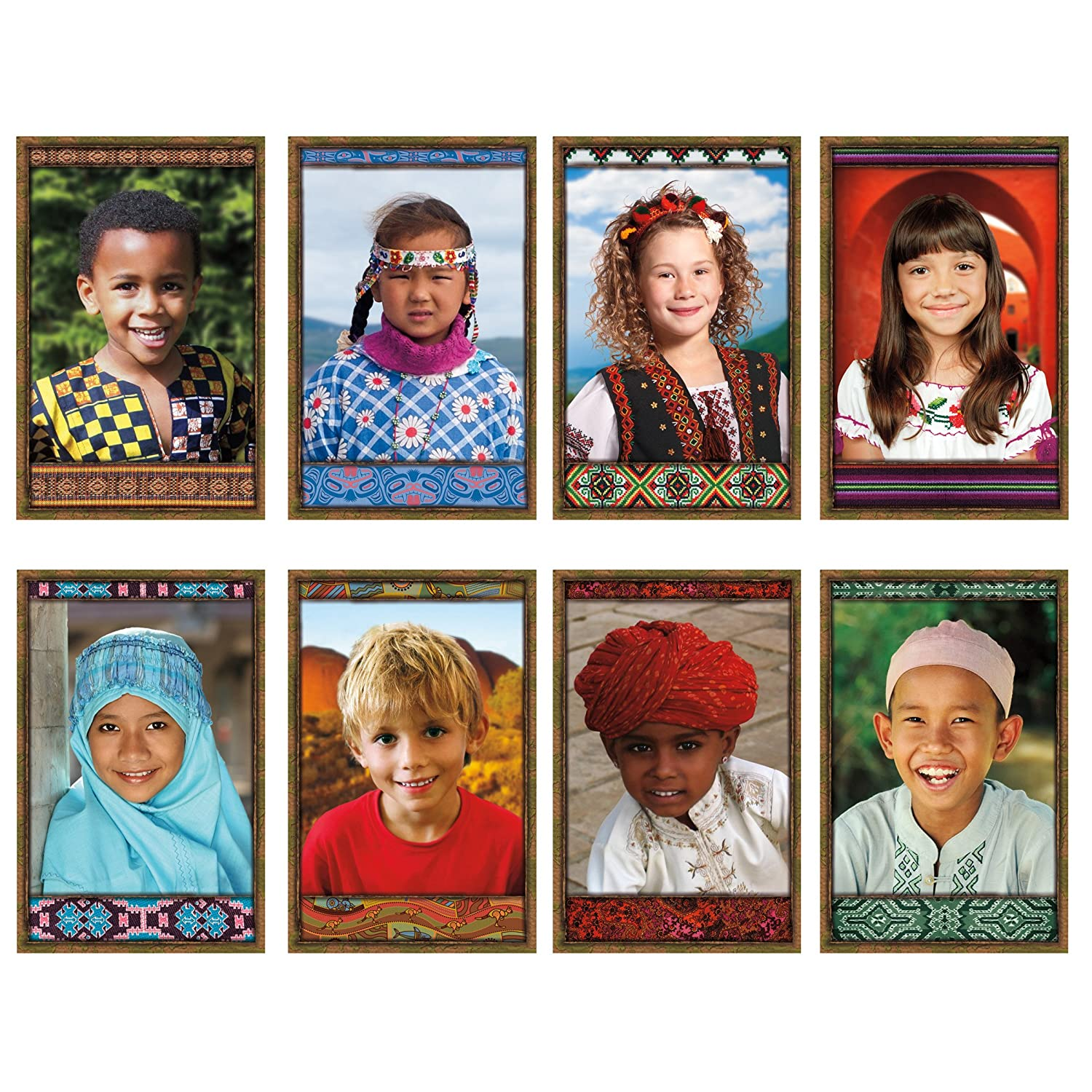 NORTH STAR TEACHER RESOURCE All Kinds of Kids International Bulletin Board Set NST3031