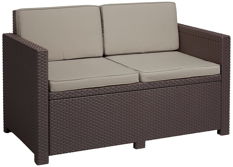 Allibert Lounge Sofa Victoria 2-Sitzer, braun taupe