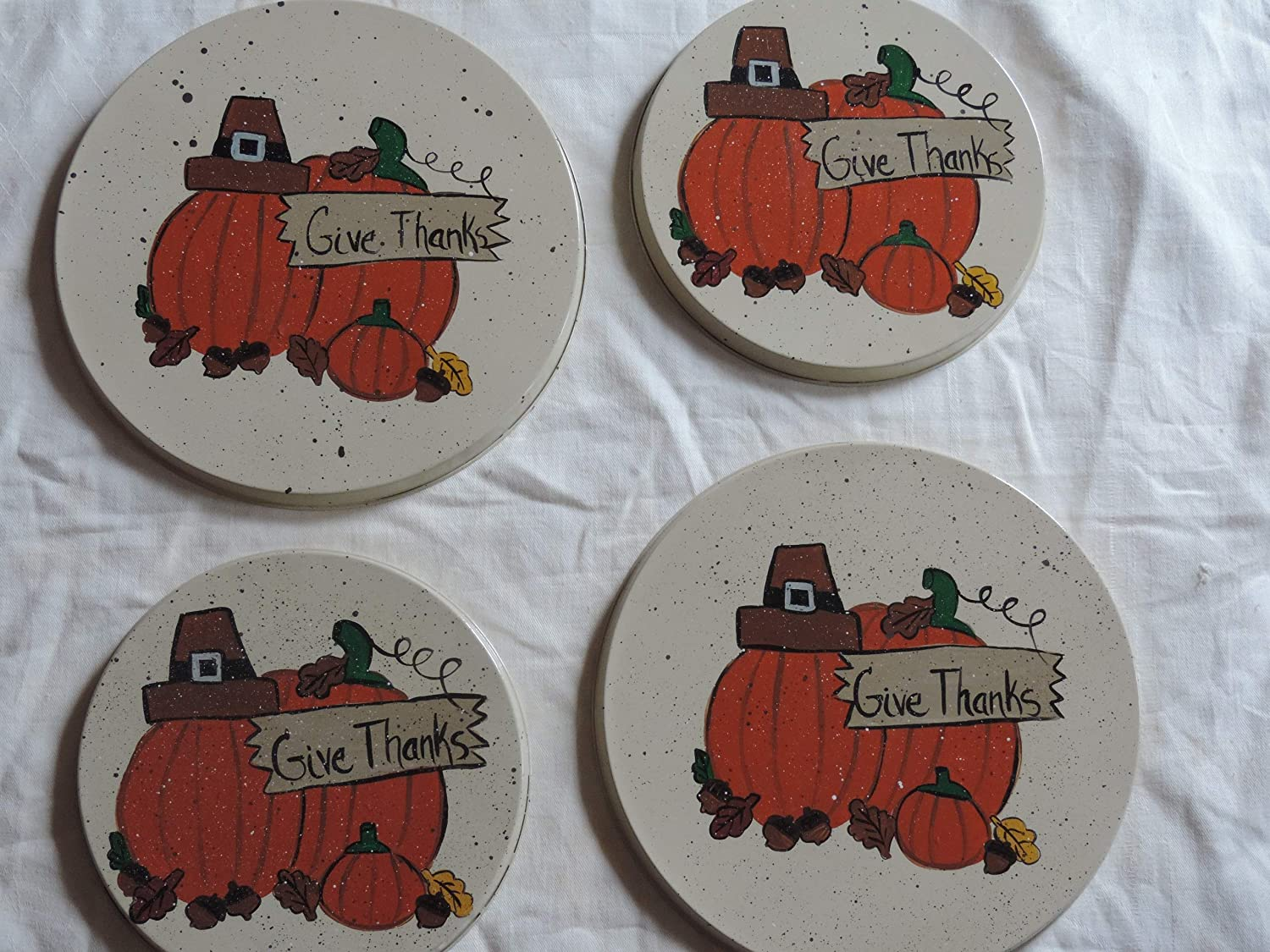 Thanksgiving pumpkin burner covers PERSONALIZED FREE!!