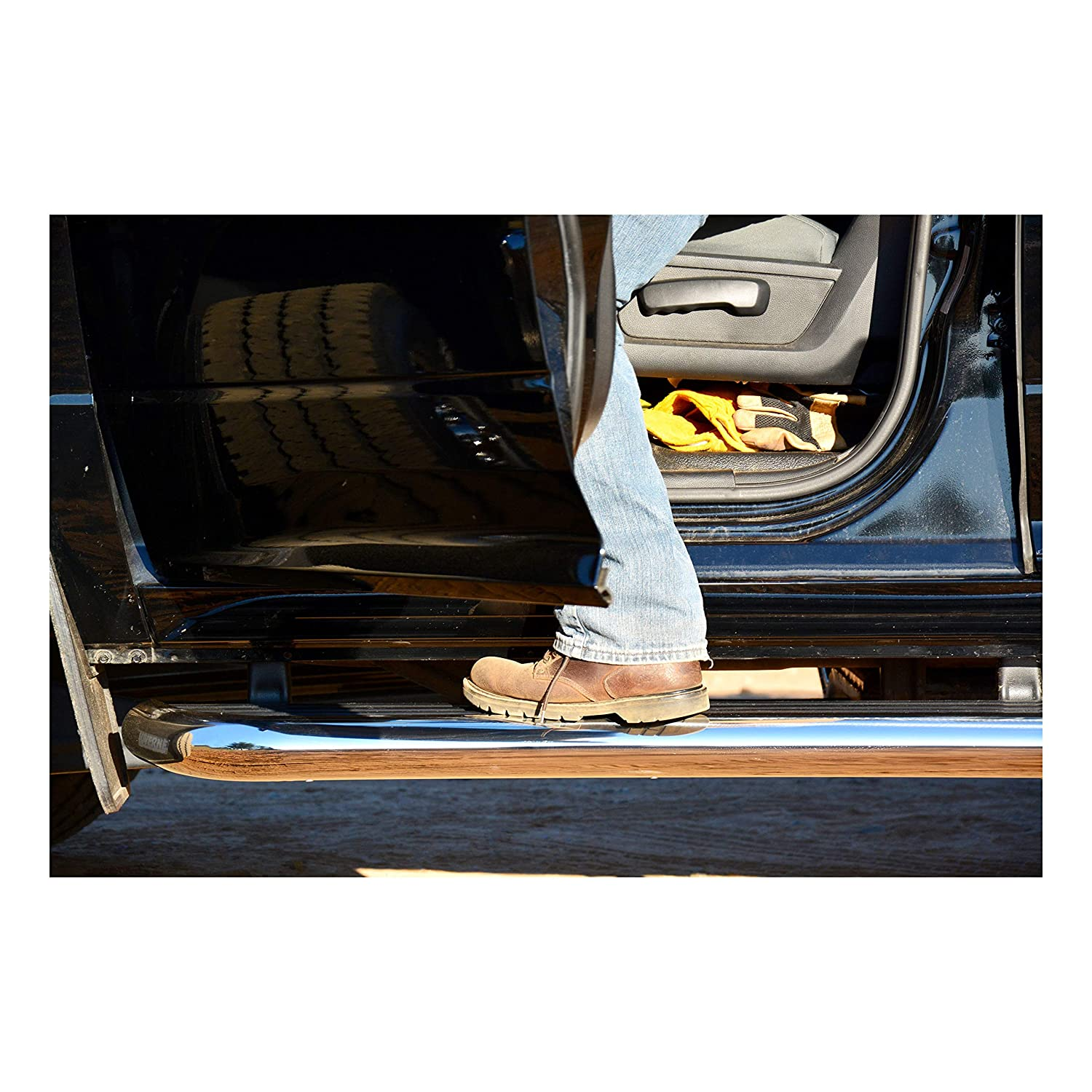 GMC Savana 4500 5500 LUVERNE 575036-570341 MegaStep 36-Inch Cargo Van Running Boards with Non-Skid Rubber Treads for Select Chevrolet Express