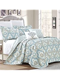 Romantic Indian Bedspread Queen Cotton Printed Quilt Coverlet Ikat Kantha Quilts High Safety Home & Garden Quilts, Bedspreads & Coverlets