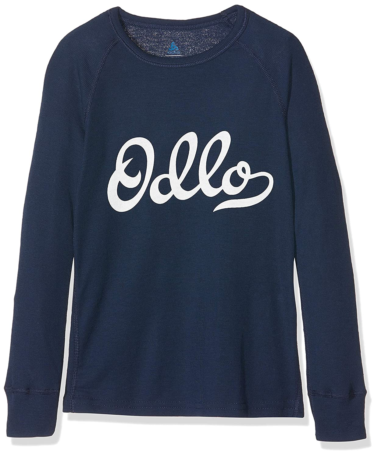 Intimo-Bambino Unisex Odlo Bl Top Crew Neck L//S Active Warm Kids-Diving Navy