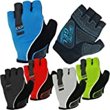 CVC EvaGel Padded Fingerless Cycle Gloves - Short Finger Mitts Anti-Slip Grip MTB Road Cycling, Gym, Crossfit, Weight Lifting Men Women