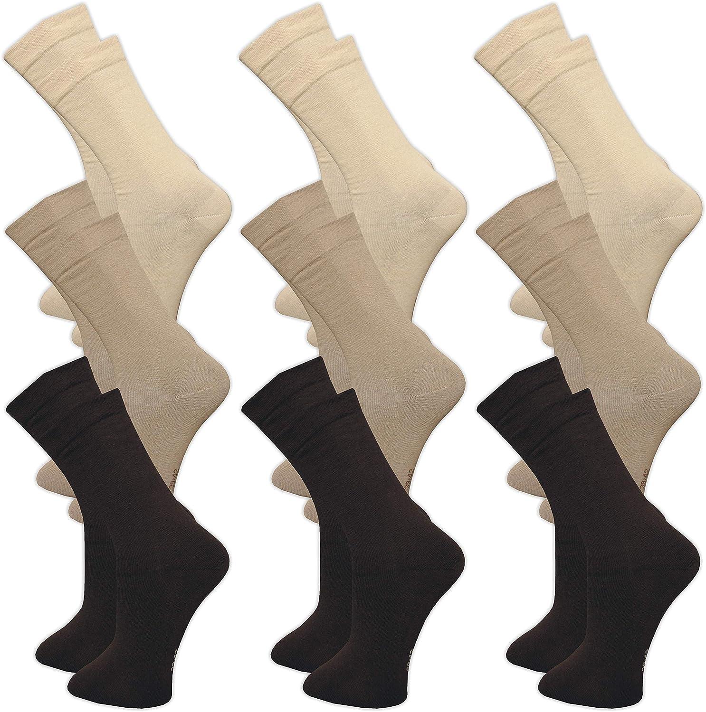 9 Paar Venensocken ohne dr/ückende Naht Gesundheitssocken mit Komfortbund Socken ohne Gummi Damen /& Herren