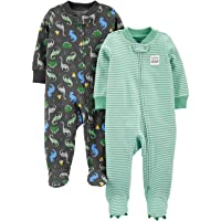 Boys' 2-Pack Cotton Footed Sleep and Play