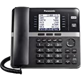 Panasonic DECT 6.0 Plus 4-Line Telephone System for Small and Medium Business, Corded Base Station (Main Console), Expandable