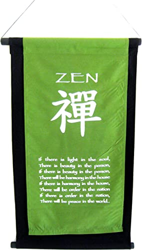 OMA World Peace Wall Hanging Inspirational Affirmation Zen Wall Art Banner, XL Size Brand
