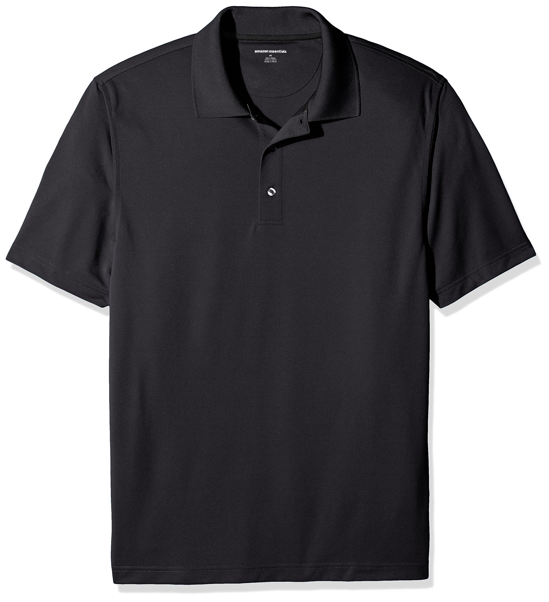 Amazon Essentials Men's Regular-Fit Quick-Dry Golf Polo Shirt, Black, X-Small
