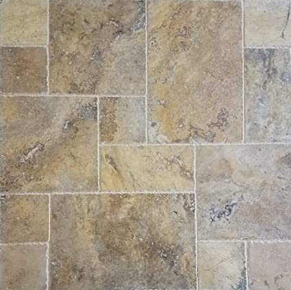 Travertine Tile French Pattern (Scabos) For Pool U0026 Patio, Backyard. Brushed  And