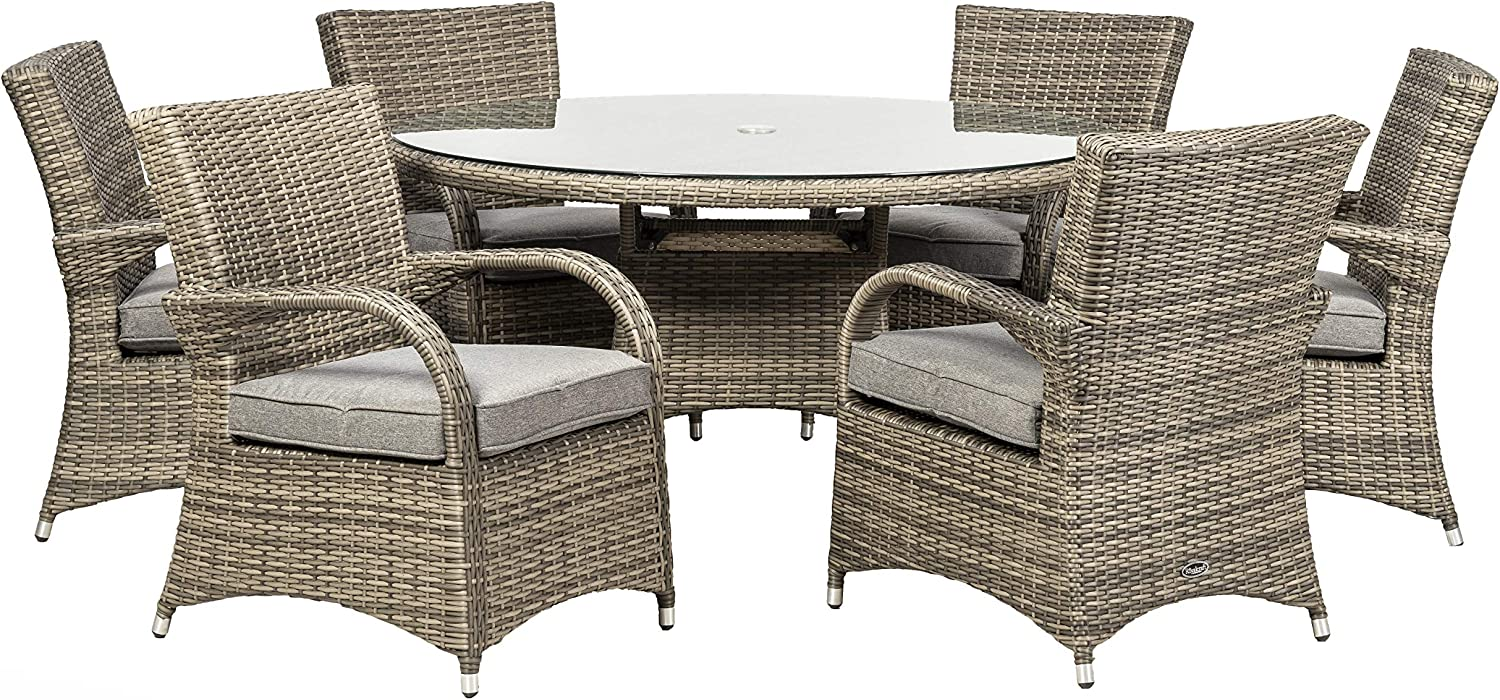 Royalcraft DAL9ACGRY Dallas 9 Seat Dining Set, Grey, 9 Seater