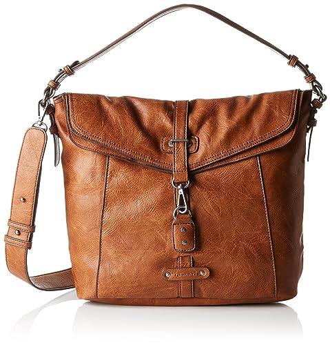 bb10a7c05581 Tamaris Women s BERNADETTE Shoulder Bag brown Braun (305 cognac 305 ...