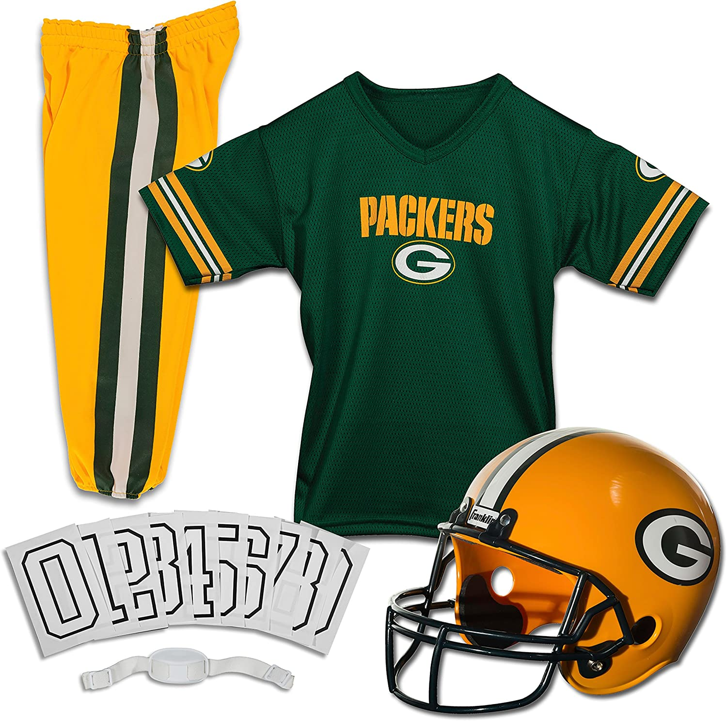 CHILDS NFL PACKERS HELMET AND UNIFORM SET Size Medium