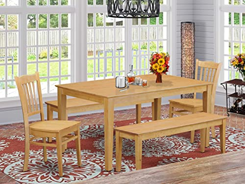 East West Furniture Modern Dining Table Set 5 Piece