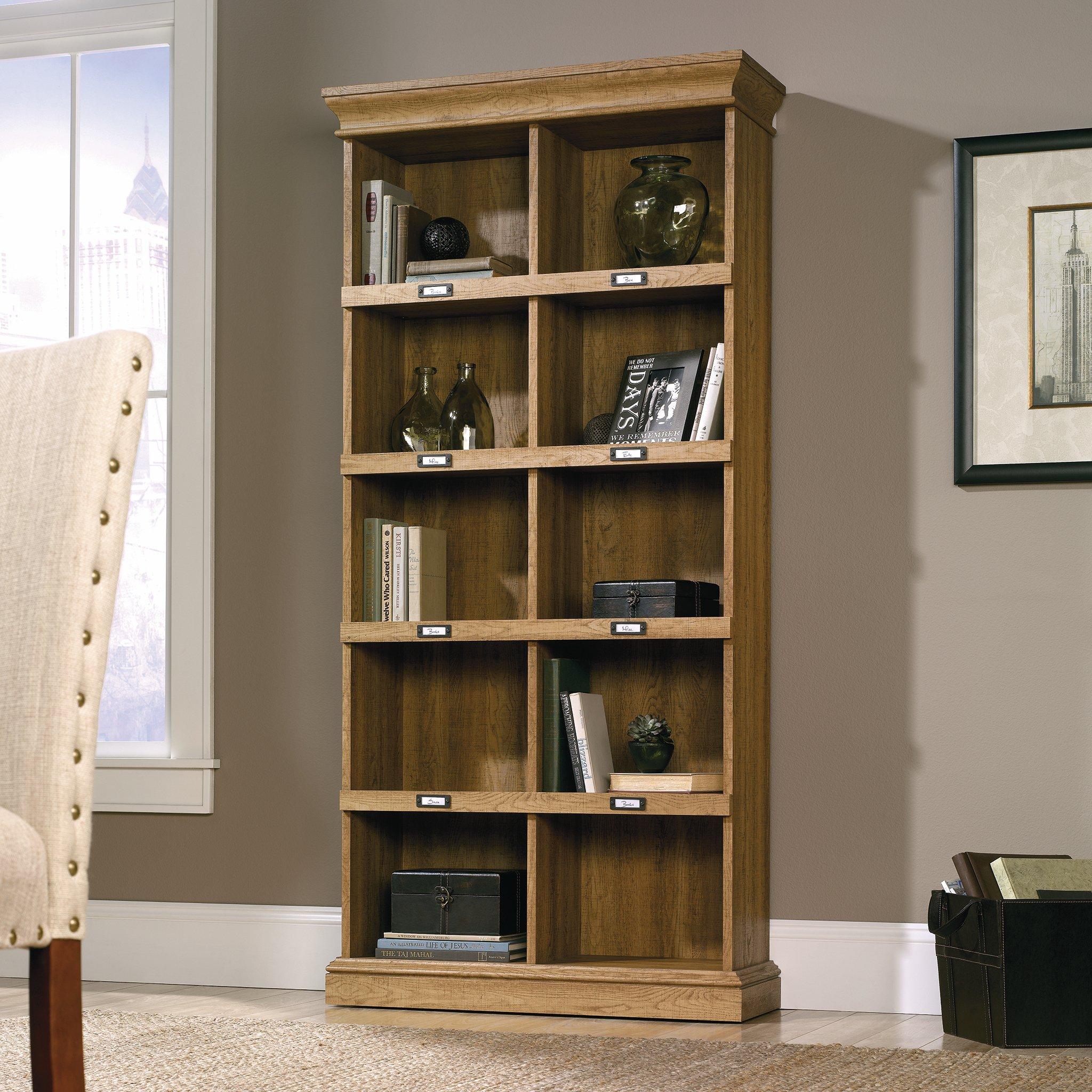 Sauder 414725 Barrister Lane Bookcase, L: 35.55'' x W: 13.50'' x H: 75.04'', Scribed Oak finish by Sauder (Image #5)