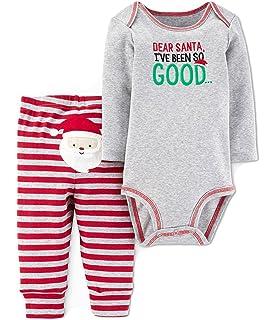 d5868b5e1b Carter s Just One You Baby Boys 2pc Dear Santa Bodysuit   Pants Set Grey Red