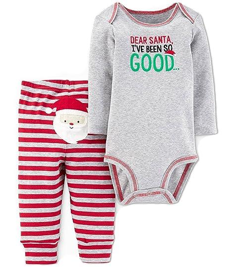 b4c31be0e277 Amazon.com  Carter s Just One You Baby Boys 2pc Dear Santa Bodysuit ...