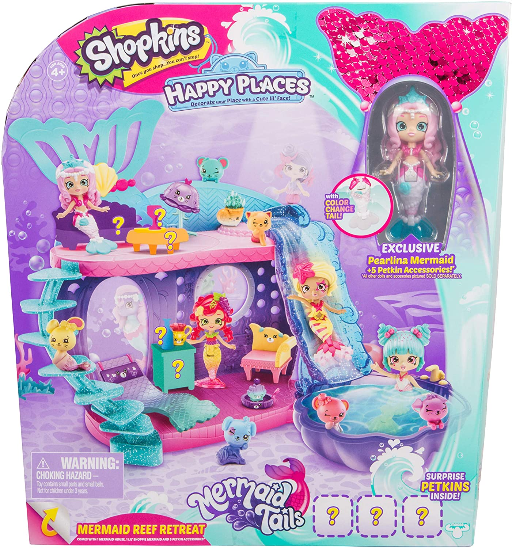 Shopkins Happy Places Mermaid Reef Retreat Playset with 'Lil Shoppie Mermaid & Surprise Petkin