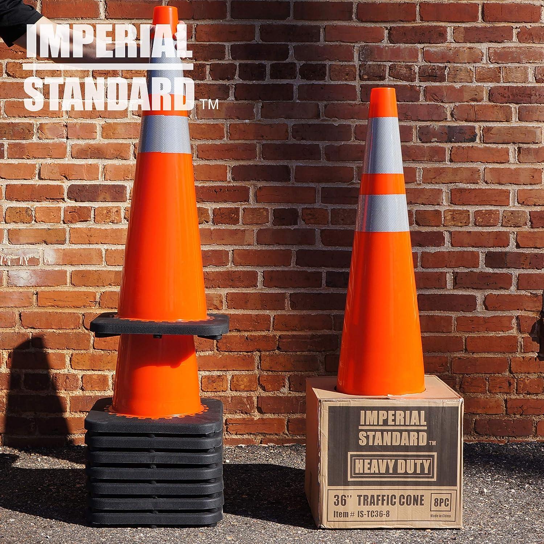 16 pack Parking Cones Safety Cones Road Cones Construction Cones Street Cone Traffic Cones 18 Orange Cones with 2 Reflective Collars