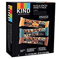 Deals on 12-Count KIND Bars Nuts and Spices Variety Pack Gluten 1.4 Oz.