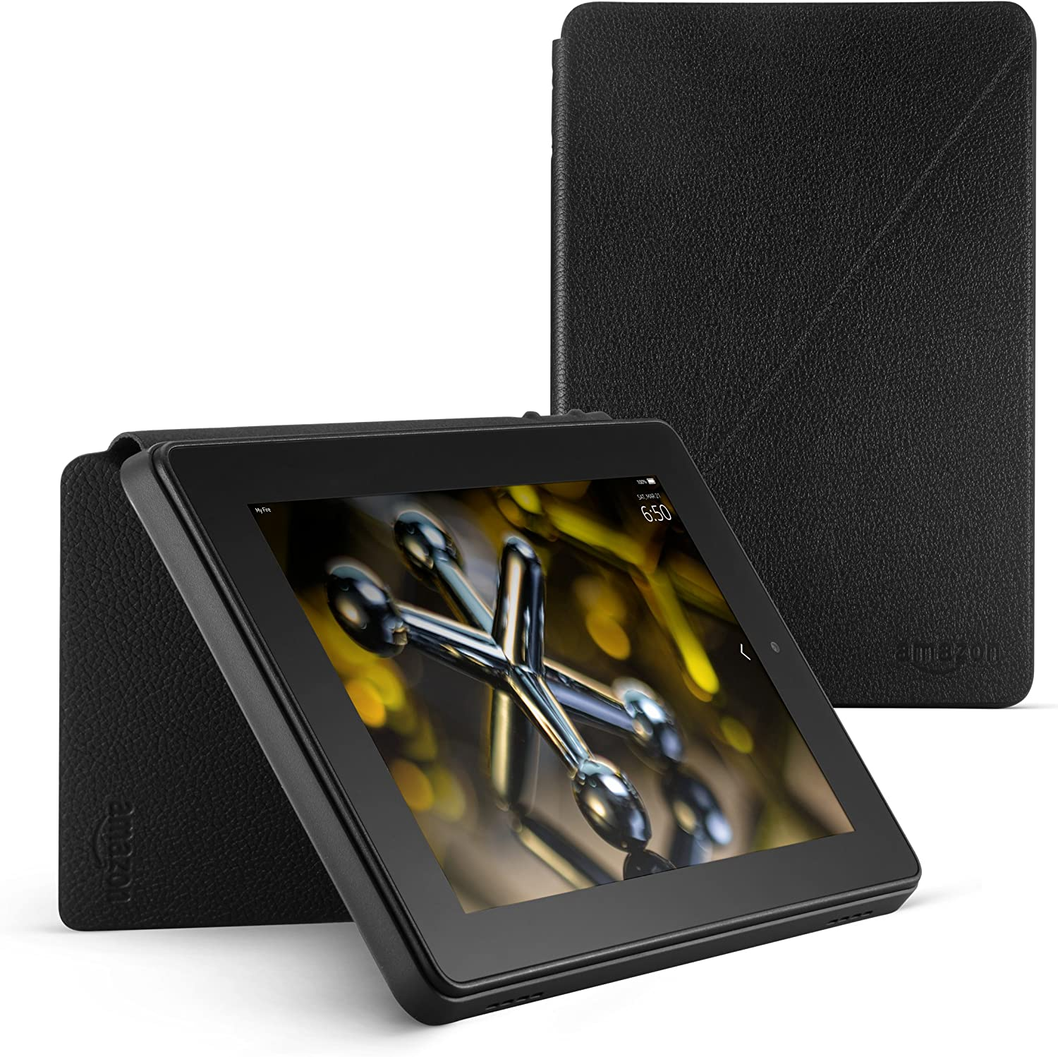 Amazon Com Standing Leather Case For Fire Hd 7 4th Generation Black Kindle Store