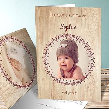 Einladungskarten Taufe Zwillinge, Glückseligkeit 30 Karten, Vertikale  Klappkarte 105x148 Inkl. Weiße Umschläge,