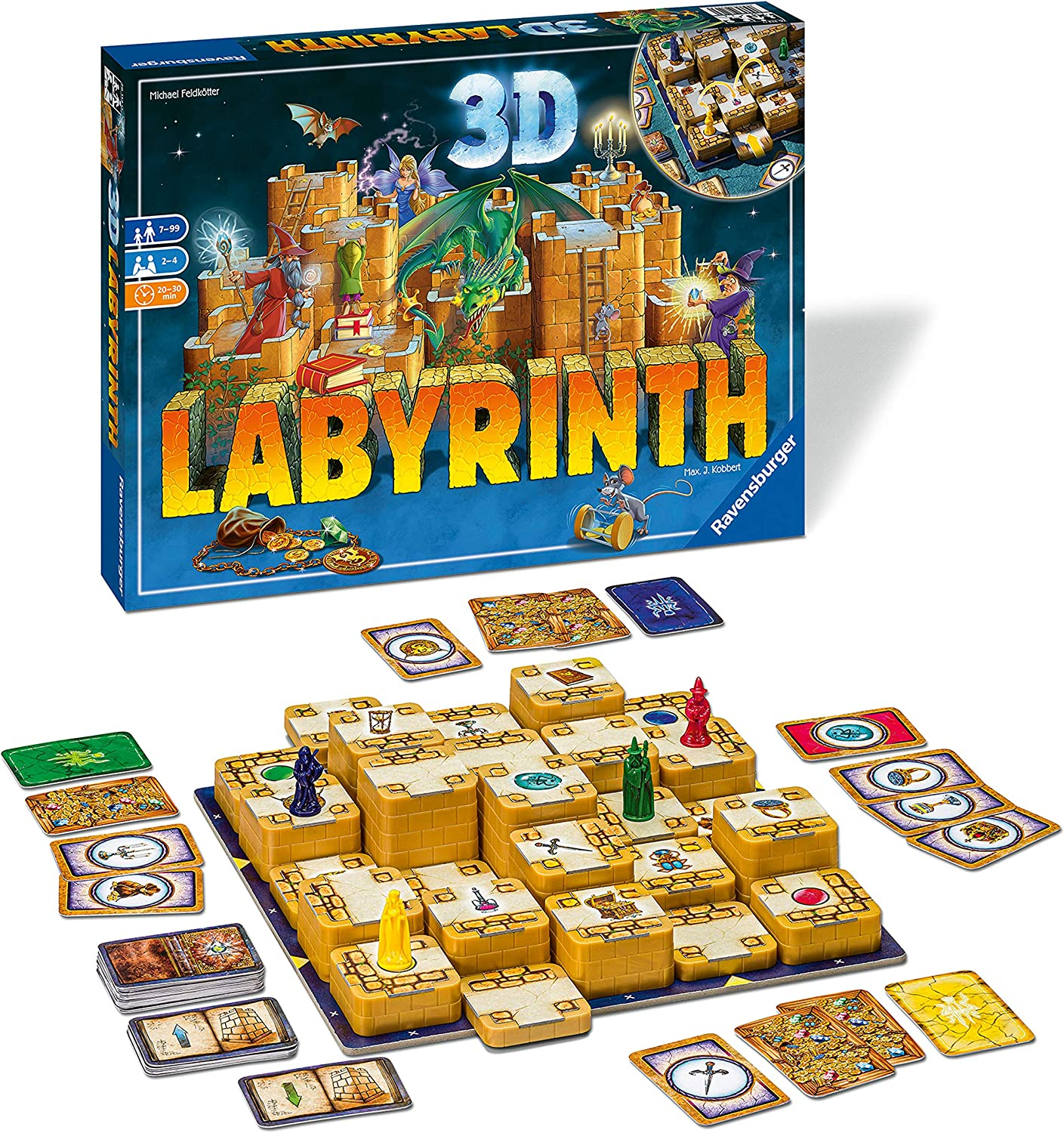 Ravensburger 3D Labyrinth Family Board Game for Kids & Adults Age 7 & Up - So Easy to Learn & Play with Great Replay Value Amazon Exclusive (26831)