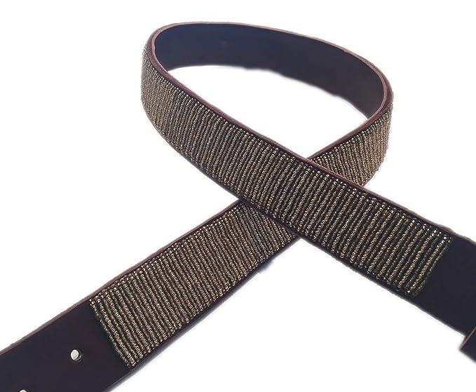 KISIKI - Ceinture - Femme or doré - or - XL  Amazon.fr  Vêtements et  accessoires 5f955301174