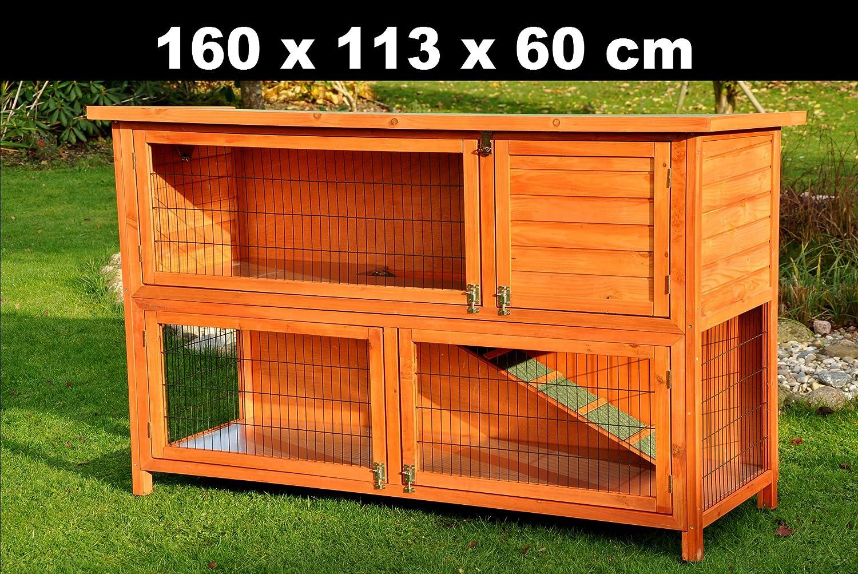 nanook hasenstall kaninchenstall kleintierstall moritz 1 deluxe naturfarben xxl version. Black Bedroom Furniture Sets. Home Design Ideas