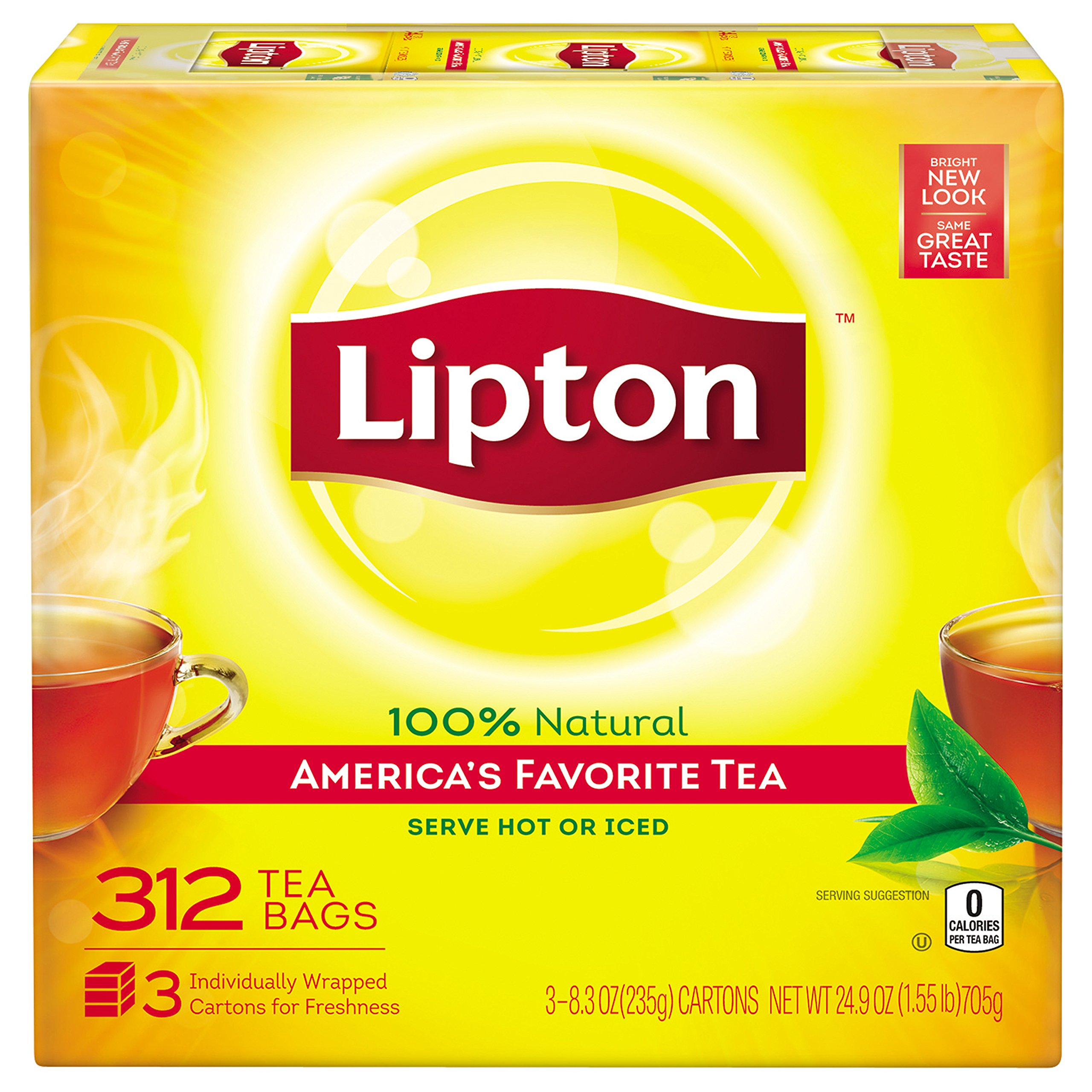 lipton yellow label tea bags 100ct 1 pack black teas grocery gourmet food. Black Bedroom Furniture Sets. Home Design Ideas