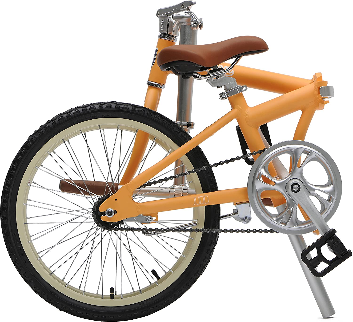 Critical ciclos Judd Single-Speed Plegable Bicicleta con Freno de Posavasos, Color Matte Saffron, tamaño Talla única: Amazon.es: Deportes y aire libre