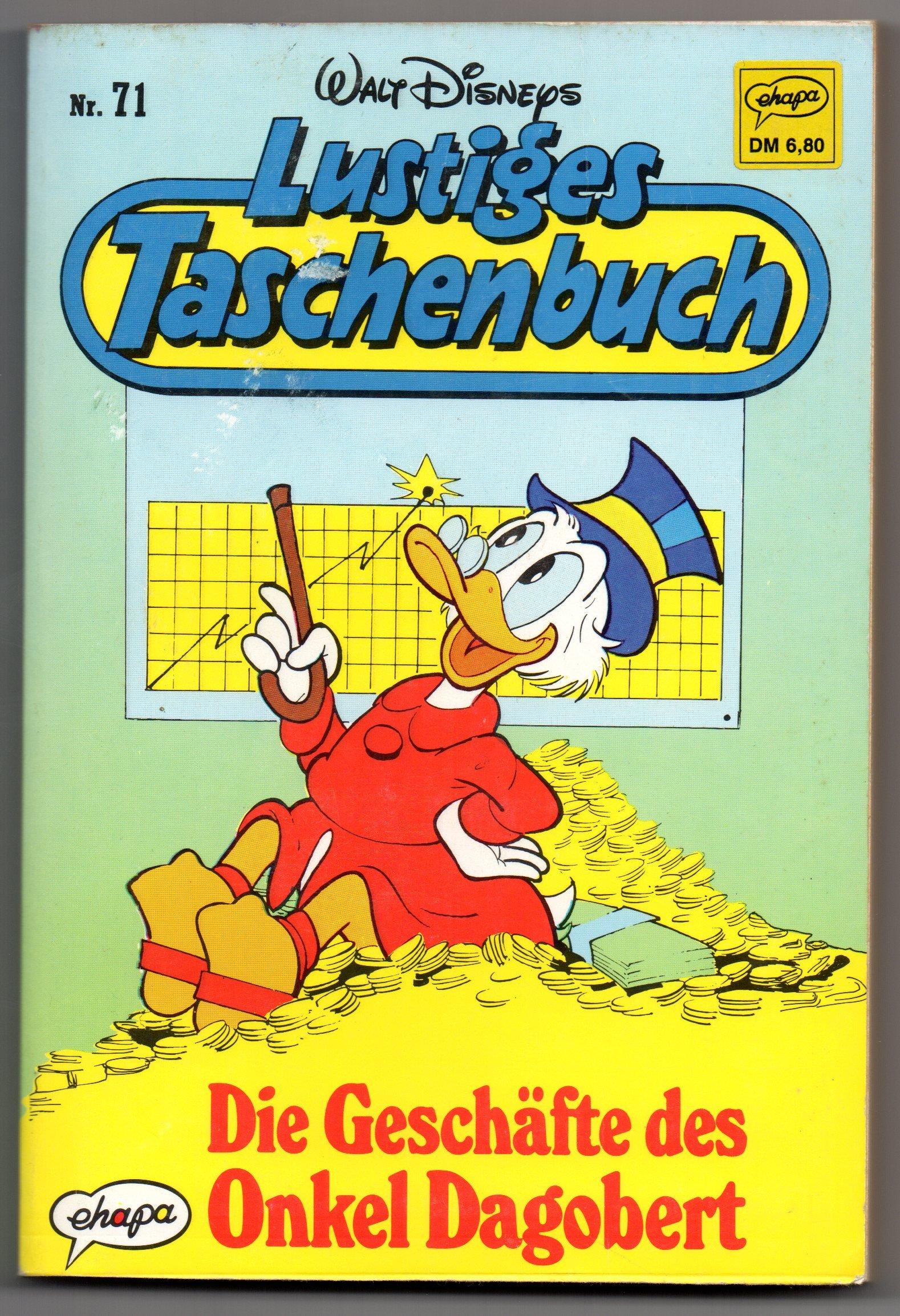 LTB Nr. 71 - Die Geschäfte des Onkel Dagobert Lustiges Taschenbuch Broschiert – 1989 Walt Disney B002894TSA 127851 Comics & Mangas