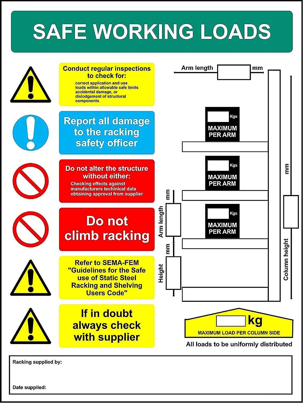 Estantería de signos en voladizo de carga de trabajo segura ...