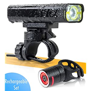 BrightRoad - The Original LED Bicycle Rechargeable Light Set