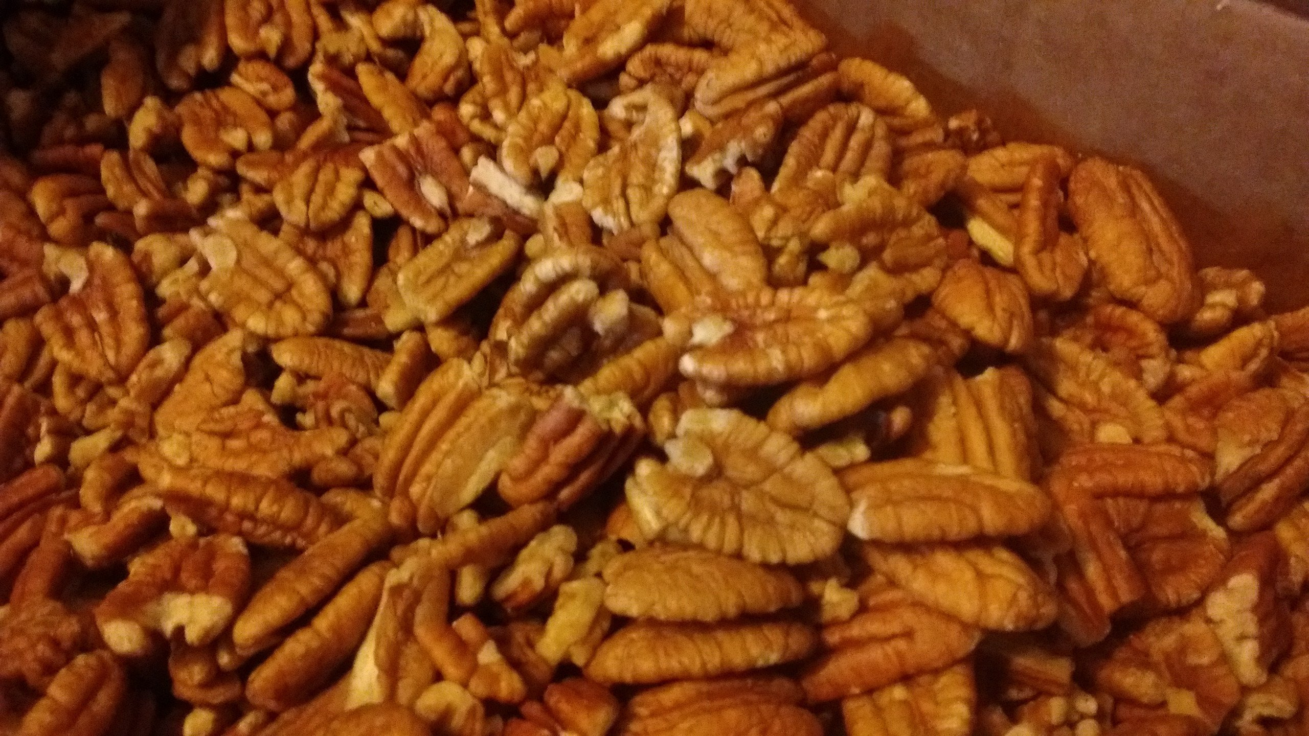 Organic Practice Raw Unpsrayed Fresh Shelled Texas Papershell Junior Mammoth Pecan Halves 2 lb by PecanShop.com