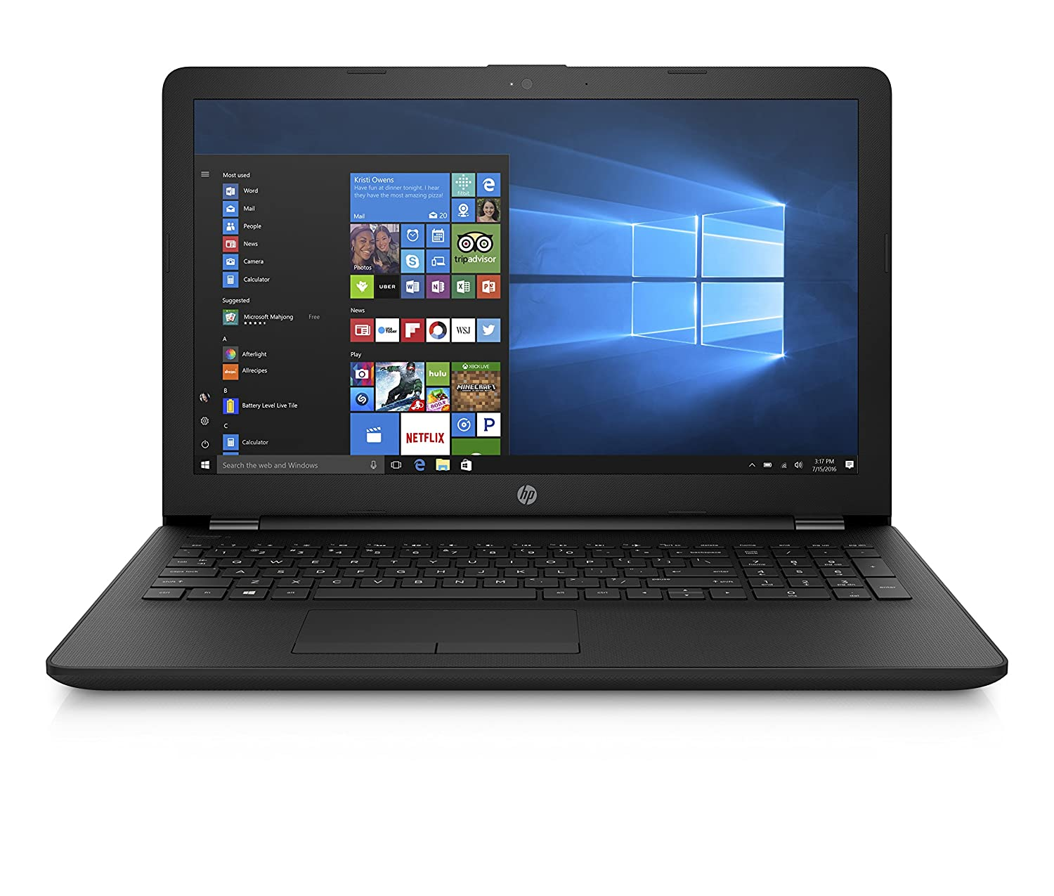 HP 15 AMD E2 15.6-inch Entry Level Laptop (4GB  1TB HDD Windows 10 Home Jet Black), 15q-bw548AU