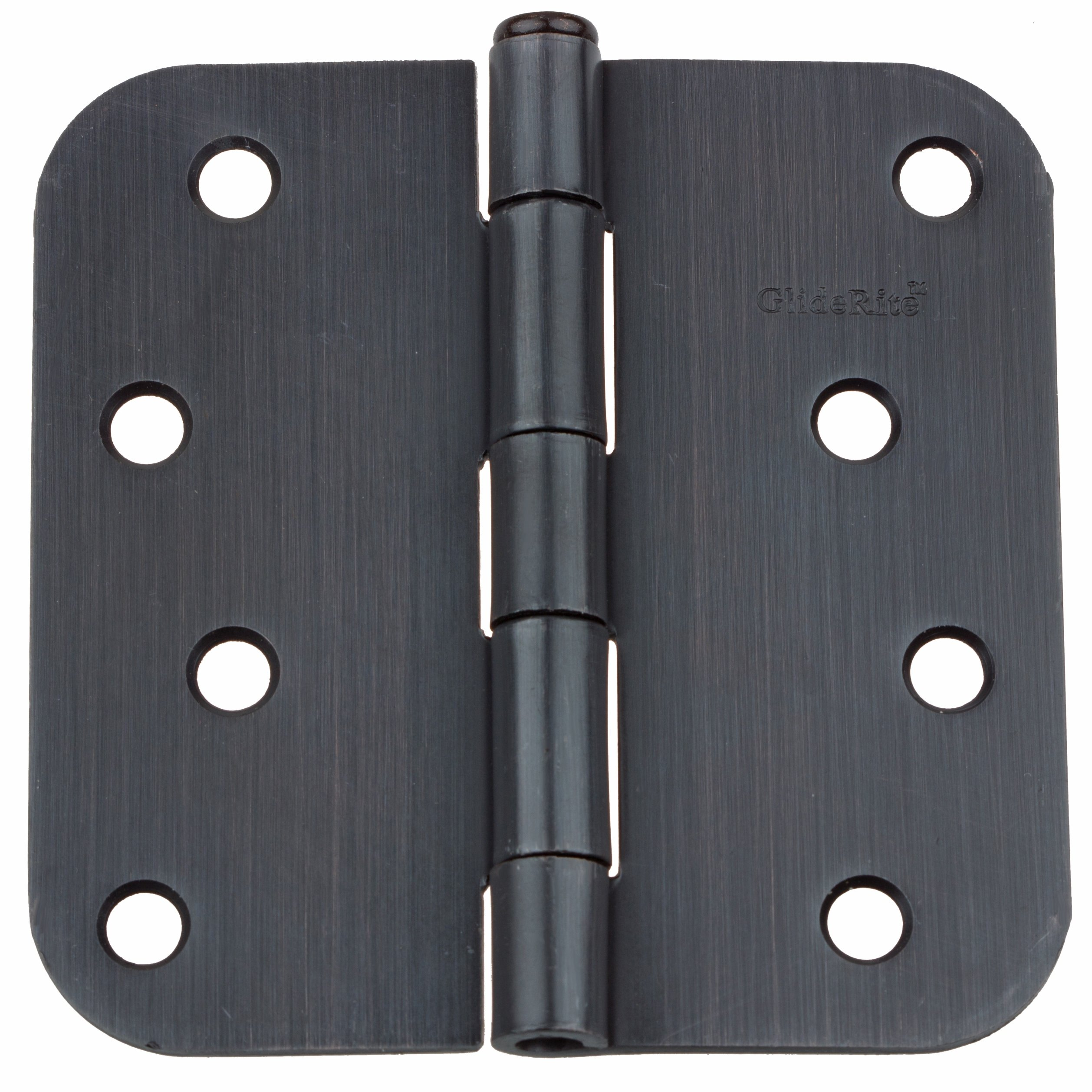 GlideRite Hardware 4058-ORB-12 4 inch steel Door Hinges 0.625 inch Radius Oil Rubbed Bronze Finish 12 Pack