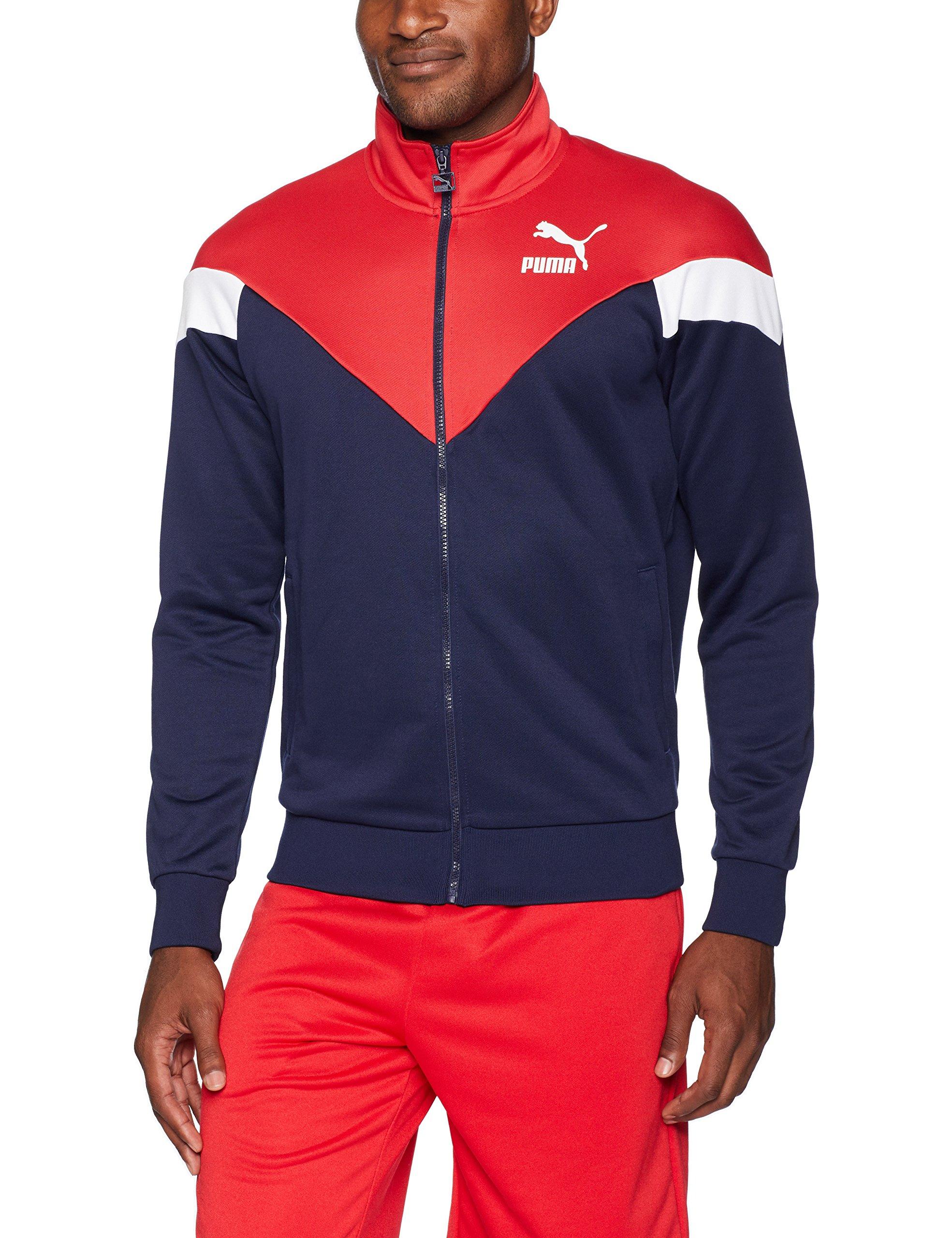 PUMA Men's MCS Track Jacket, Peacoat, M
